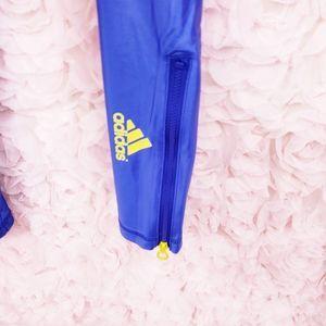 Adidas by Stella McCartney Pants - RARE Adidas StellaSport Blue Yellow Zip L Legging